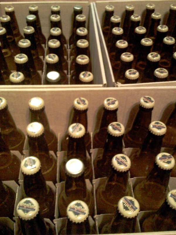 70 bottles of wheat beer